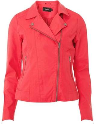 Dorothy Perkins Womens **Only Pink Leather Biker Jacket