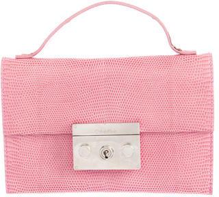 Calvin Klein Lizard Flap Clutch $225 thestylecure.com