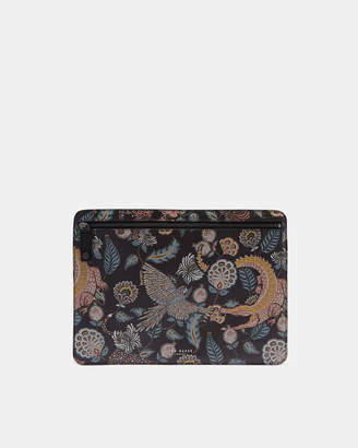 Ted Baker TIGGS Printed leather document bag