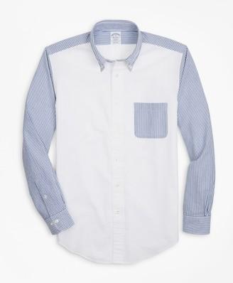 Brooks Brothers Regent Fit Seersucker Fun Sport Shirt