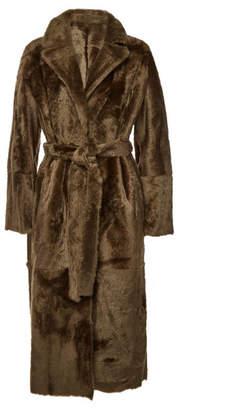 Yves Salomon Lacon Reversible Fur Coat with Lambskin