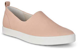 Ecco Gillian Leather Slip-On Sneakers