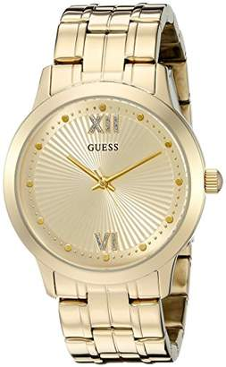 GUESS Women's U0634L2 Vintage Inspired Dressy Gold-Tone Watch