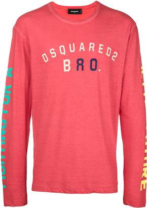 DSQUARED2 logo crewneck top