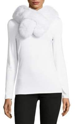 Surell Pull Through Fox Fur Scarf