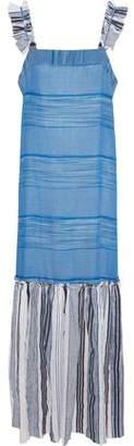 Lemlem Semay Embroidered Striped Cotton-Gauze Maxi Dress
