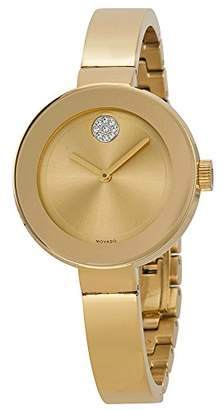 Movado Women's Bold 3600201 Gold Stainless-Steel Swiss Quartz Watch