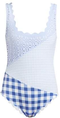 Marysia Swim Wainscott Patchwork Swimsuit - Womens - Grey Print