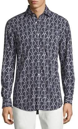 Ralph Lauren Tennis Croquet-Print Sport Shirt