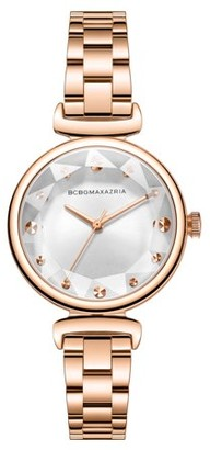 BCBGMAXAZRIA Women's Gold Case Gold Dial Gold Bracelet Watch