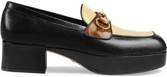 b30665ad134 Gucci Leather platform loafer with Horsebit