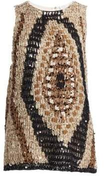 Brunello Cucinelli Paillette Knit Sleeveless Top