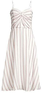 Joie Women's Chalten Striped Midi Dress - Size 0