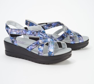 4a00e268bd3f Alegria Leather Multi-Strap Wedge Sandals- Myka