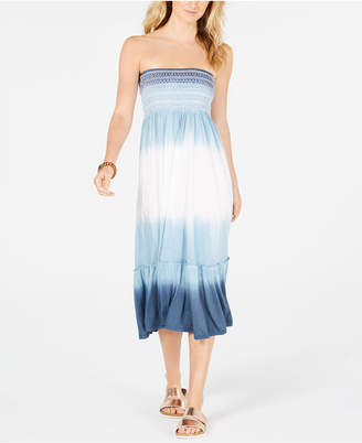 At Macy S Raviya Tie Dyed Strapless Cover Up Dress Women Swimsuit