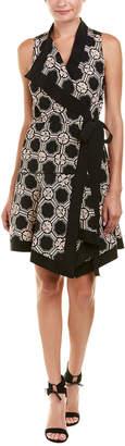 Derek Lam 10 Crosby Patterned Silk Wrap Dress