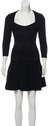 Zac Posen Jacquard Fit and Flare Dress