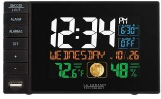 La Crosse Technology C87207 Dual Alarm Black Bedside clock with USB port