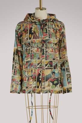 Prada Comics printed raincoat