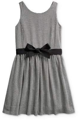 Ralph Lauren Girls' Houndstooth Print Dress - Big Kid
