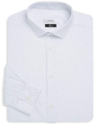 Versace Geometric-Print Dress Shirt