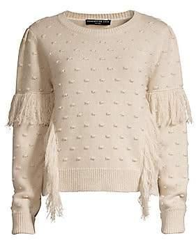 Generation Love Women's Nora Fringed Pom Pom Sweater