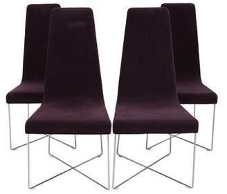 Ligne Roset Velvet Side Chairs