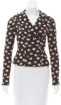 Diane von Furstenberg Patterned Wool-Blend Cardigan