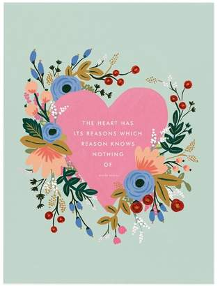 "Rifle Paper Co. Pascal Quote Art Print 8"" x 10"""