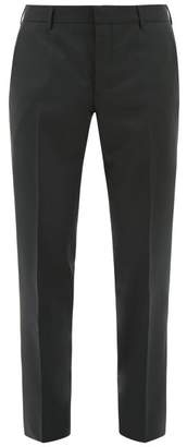 Prada Slim Leg Wool Blend Trousers - Mens - Green