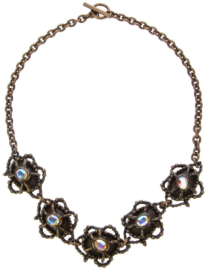 Christian Lacroix Vintage Ethnic Strass Necklace