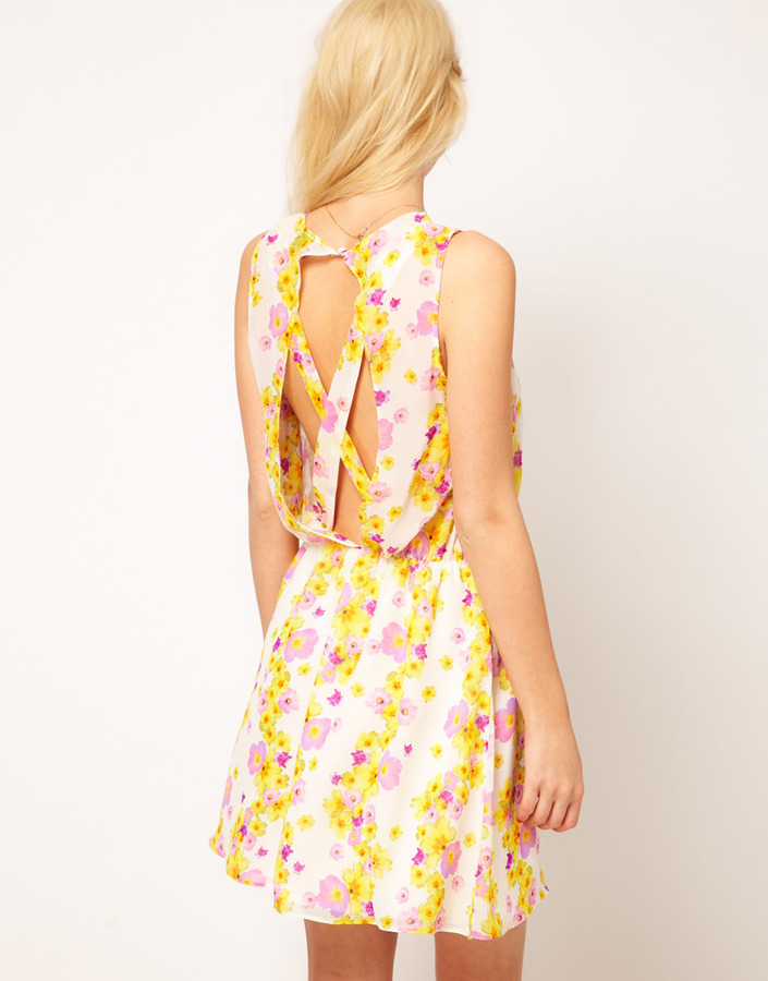 Asos Mini Dress In Floral Print