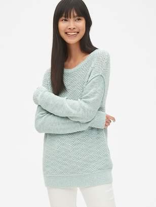Gap Textured Mix-Knit Crewneck Pullover Sweater