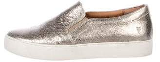 Frye Metallic Leather Slip-On Sneakers