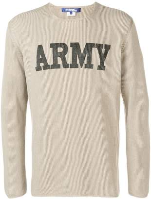 Junya Watanabe Army logo sweatshirt