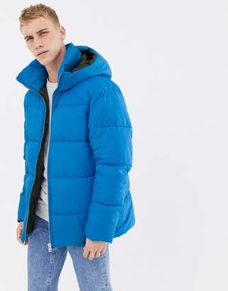 Jack and Jones Core puffer coat in drop shoulder fit