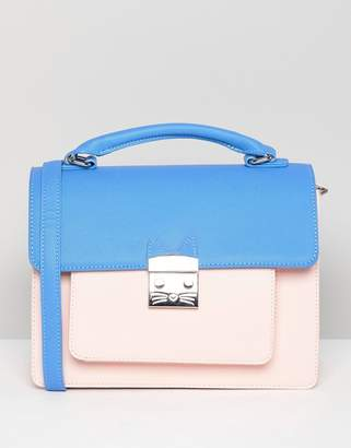 Paul & Joe Sister Color Contrast Cross Body Bag