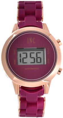 INC International Concepts I.N.C. Women's Digital Boyfriend Rose Gold-Tone & Silicone Bracelet Watch 36mm, Created for Macy's