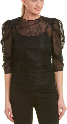 Pinko 3/4 Sleeve Lace Blouse