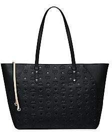 MCM Women's Medium Klara Monogram Leather Shopper