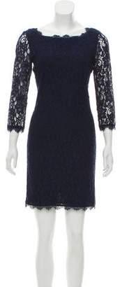 Diane von Furstenberg Long Sleeve Lace Mini Dress