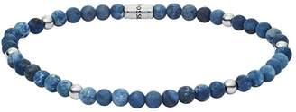 mens stretch bracelet, sodalite blue beads