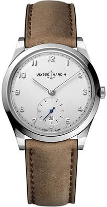 Ulysse Nardin 3203-900 Classico stainless steel and leather watch