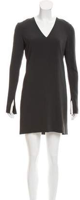 Helmut Lang Long Sleeve Crepe Dress