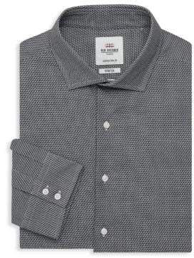 Ben Sherman Stretch Slim-Fit Patterned Dress Shirt