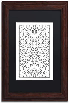 """Trademark Global Kathy G. Ahrens Stained Glass Matted Framed Art - 11"""" x 11"""" x 0.5"""""""