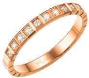 Chopard Happy Hearts Carnelian & Diamond Ring in 18K Rose Gold, Size 50/51