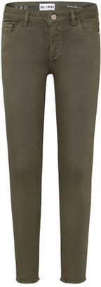 DL1961 DL 1961 Girls' Raw Hem Skinny Green Pants, Size 7-16