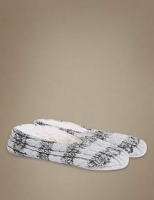 Marks and Spencer Striped Ballet Slipper Socks