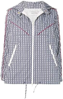 Valentino zip front logo jacket